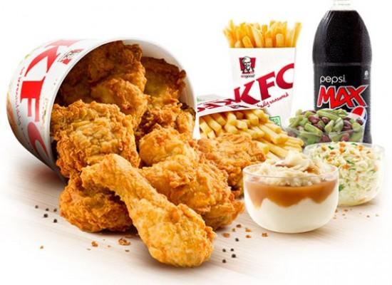 Kentucky Fried Chicken: finger lickin' good