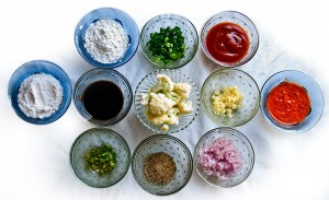 Ingredients required for making Gobi Manchurian