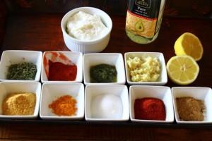 Ingredients required for making tandoori chicken