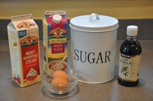 Ingredients that are required for making vanilla ice cream