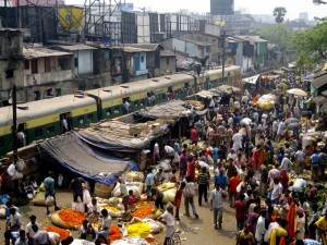 Over crowding in Kolkata