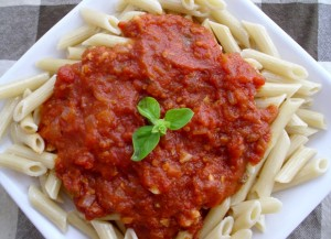 Arrabbiata sauce with Penne pasta