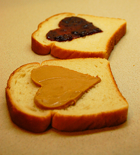 Peanut Butter And Jam Hearts