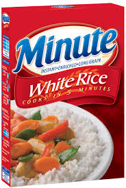 white instant rice