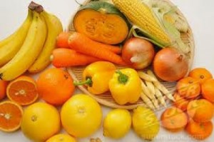yellow and orange fruitss and vegetables