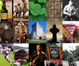 A picture showing about Irish culture in breif