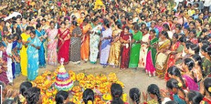 Bathukamma - a festival of flowers
