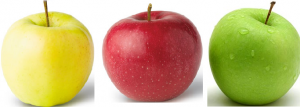 green-apple-yellow-apple-red-apple