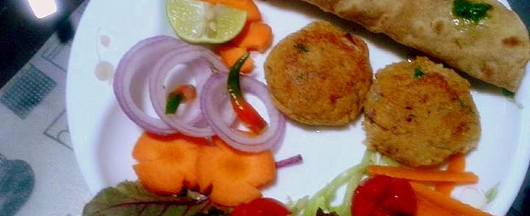 A Platter of Vegetarian Kebabs