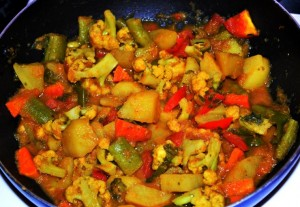 mixed-vegetable curry