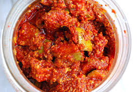 Hot and spicy mouth watering spicy mango pickle