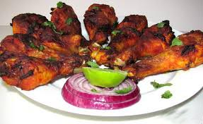 Mouth watering chicken tandoori is ready