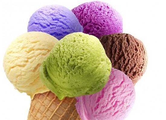 Home made vanilla ice cream