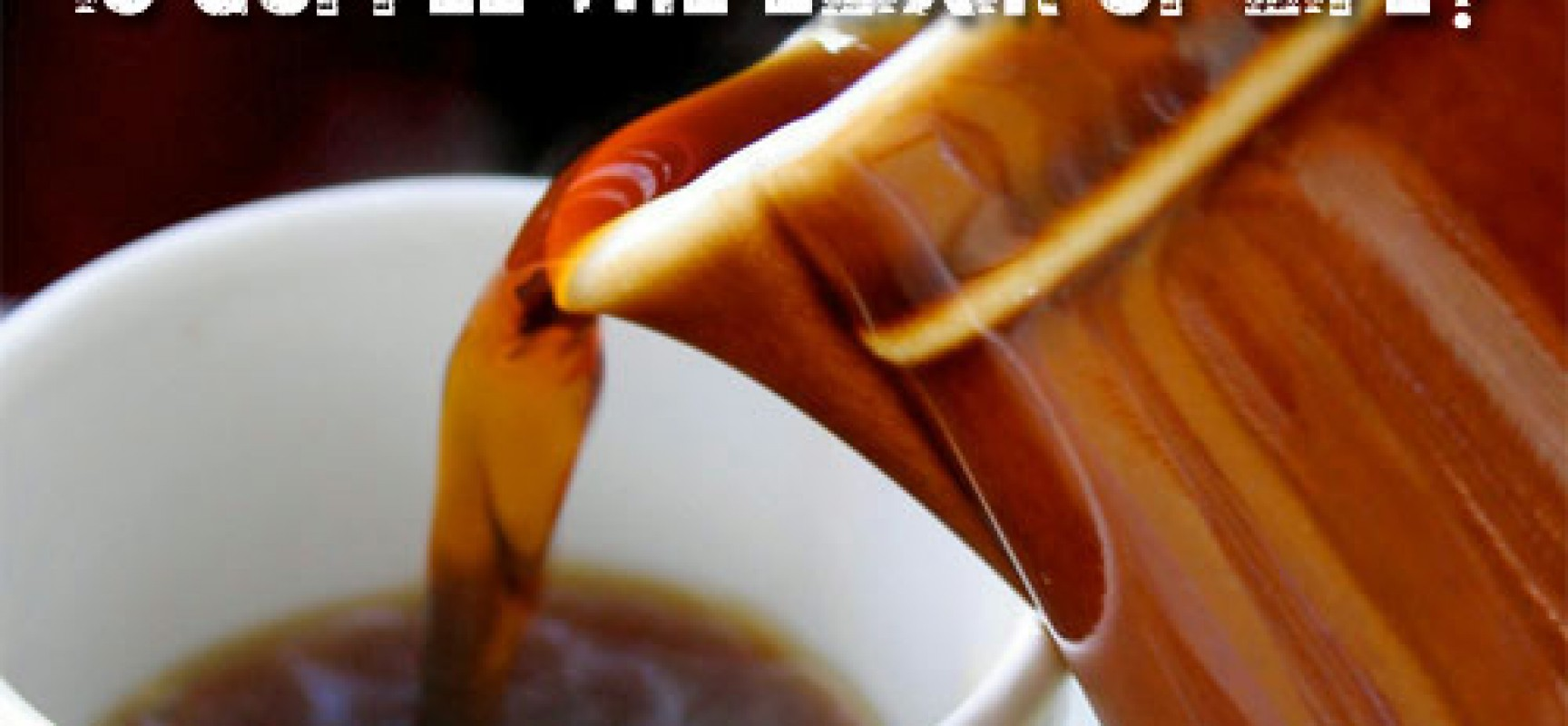 Why Coffee Is The Elixir Of Life