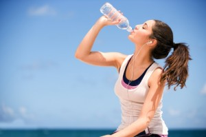 girl-drinking-bottled-water
