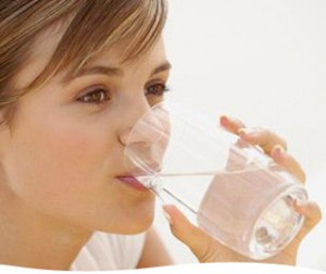 intake of water