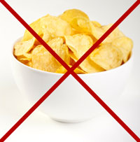 Say no to  munching on unhealthy snacks! time for breakfast.