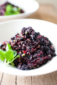 black rice and purple carrot salad 4