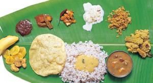 Traditional Kerala cuisine