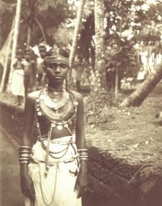 Malabar Nair Woman Wearing Jewelery - 1914